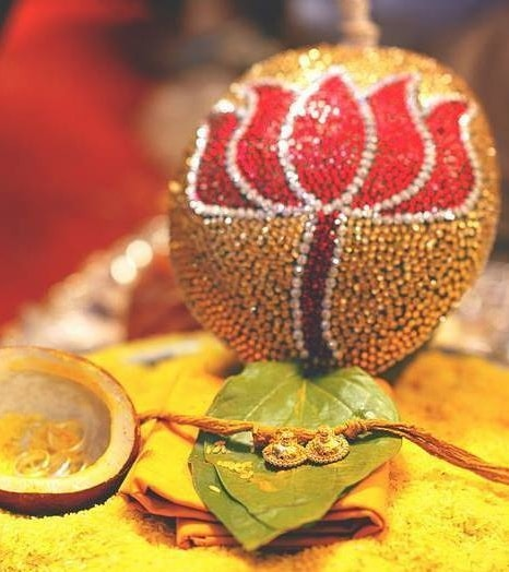 simple coconut designs for marriage